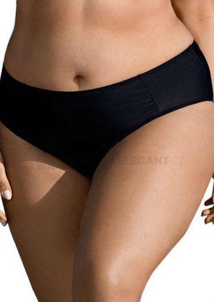 Egyszínű fekete bikini alsó pufók lányoknak